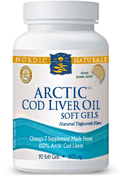 Photo of Nordic Naturals ARCTIC-D Cod Liver Oil as found at gfchiro.com