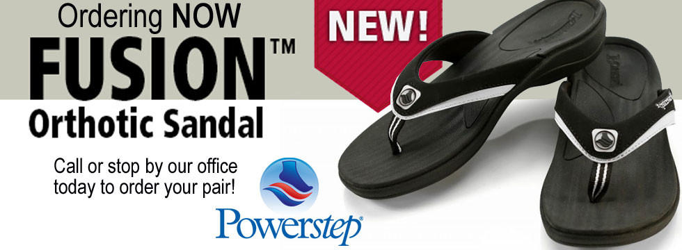 Fusion Orthotic Sandals available at Greenbrier Family Chiropractic