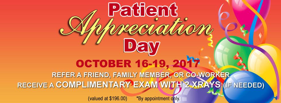 Patient Appreciation Day - October 16-19, 2017